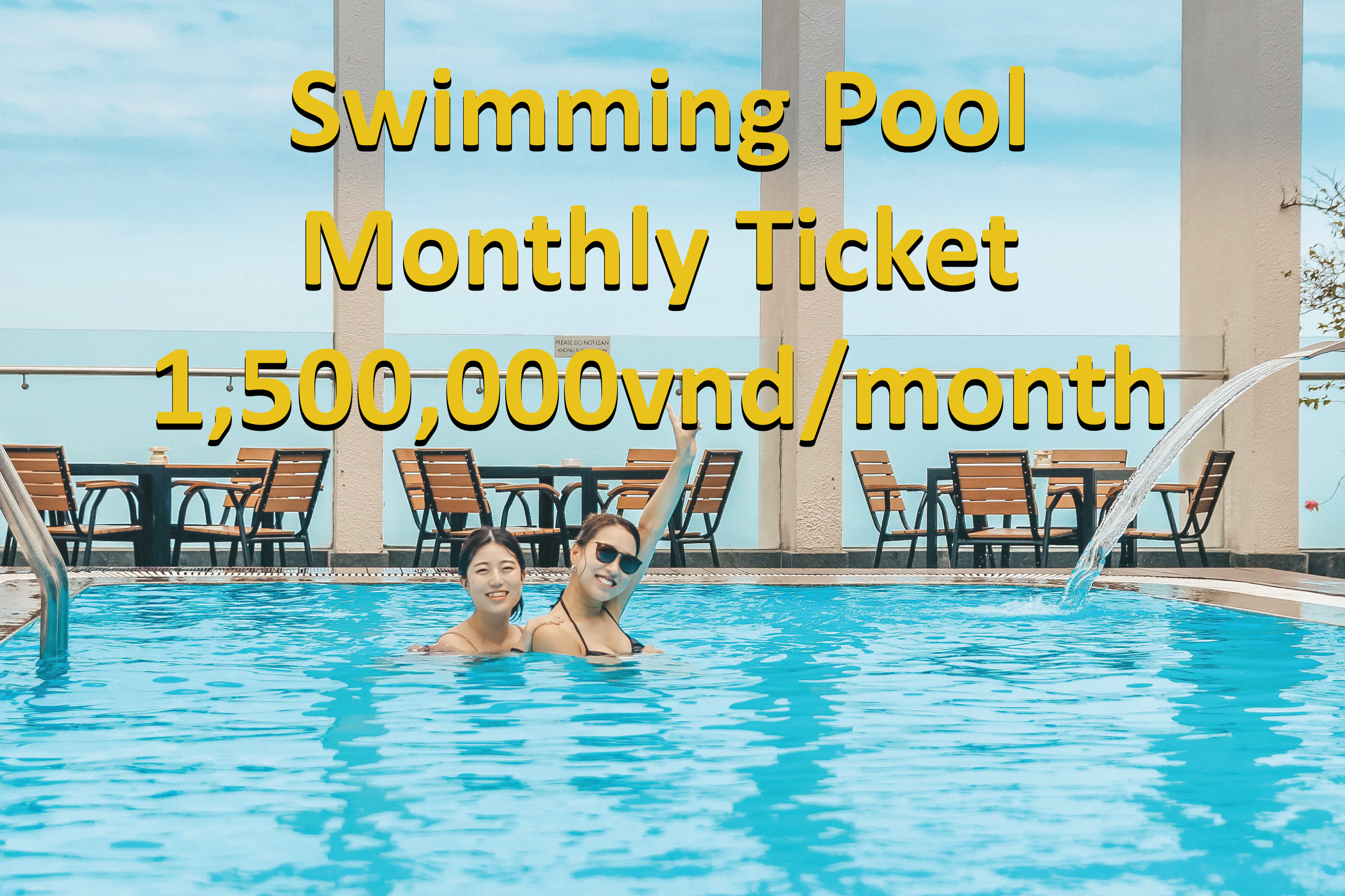Swimming pool monthly ticket at Diamond Sea hotel