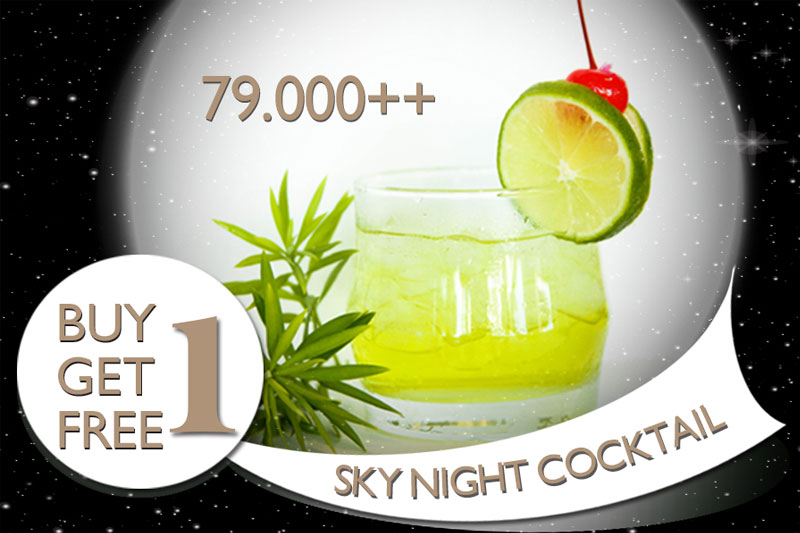 Skynight Cocktail Promotion: Buy 1 Get 1 FREE