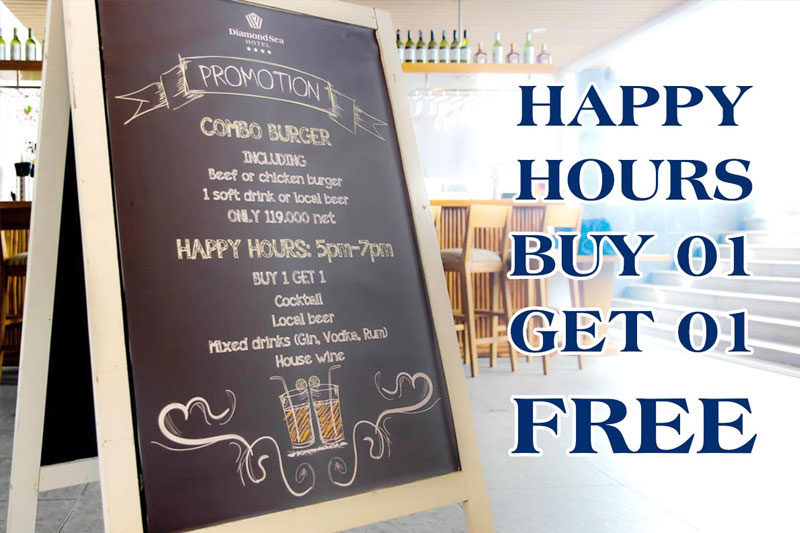 Happy Hours: Buy 01 Get 01 Free