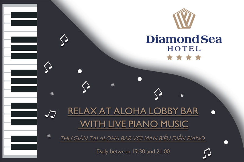 Relax at Aloha Lobby Bar with Live Piano Music