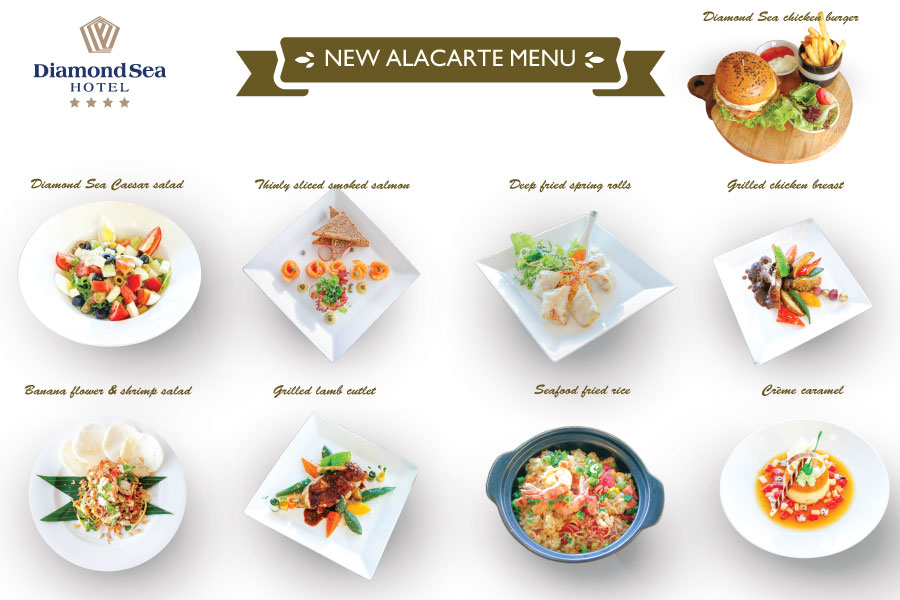 Colors of the sea-New Alacarte Menu