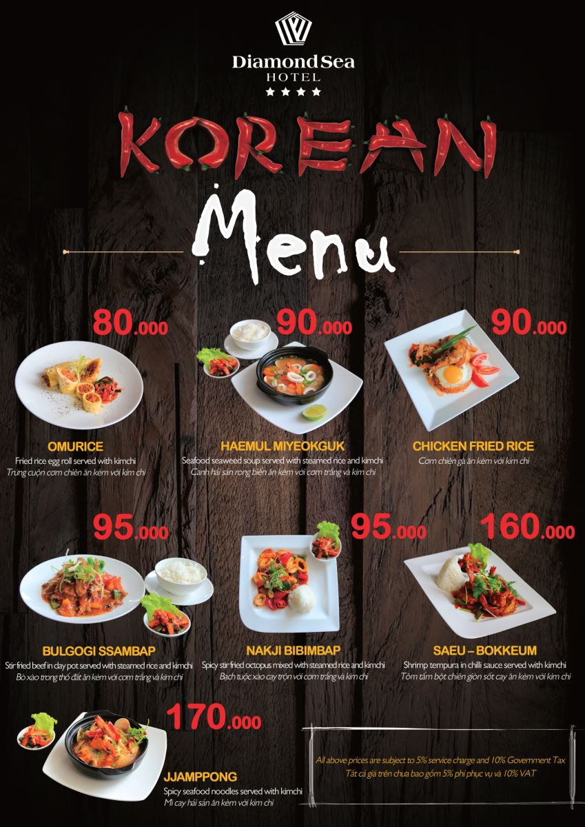 korean food promotion diamond sea hotel da nang